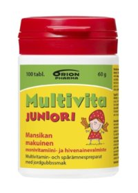 MULTIVITA JUNIORI MANSIKKA MONIVITAMIINI 100 PURUTABL