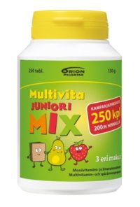 MULTIVITA JUNIORI MIX MONIVITAMIINI 250 PURUTABL